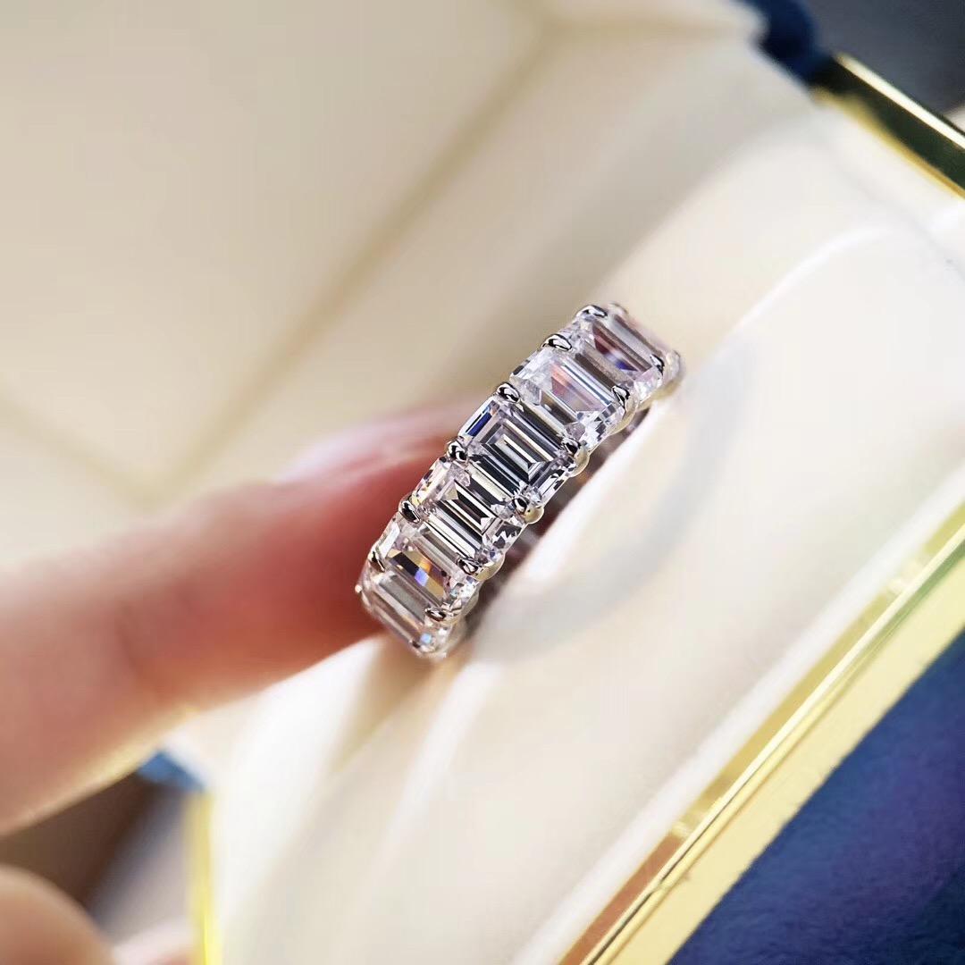 S925 чистого серебра Высокого качества париж дизайн кольцо с прямоугольник ромб украшает очарование женщины ювелирных изделий подарка бесплатной доставка PS6417