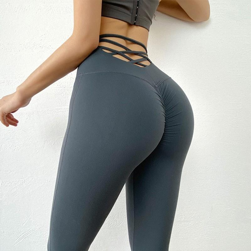 Sexy Push Up Hip Йога Брюки горб талией Workout леггинсами Спорт Женщины Фитнес-центр Леггинсы Бег колготки ActiveWear T200618