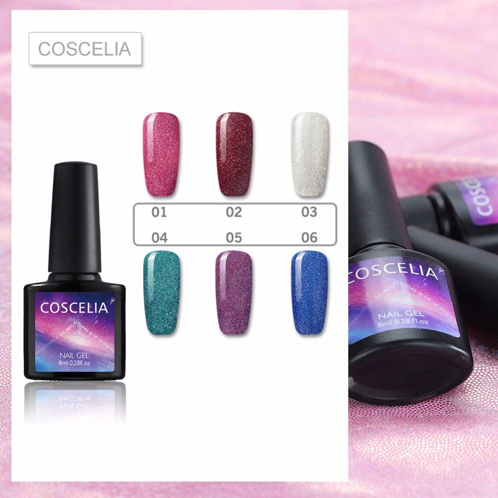 COSCELIA Neon Jel Polonya 6 Renk Nail Art Manikür Çiviler Manikür UV lambası Oje için Yarı Kalıcı Jel Vernik Astar