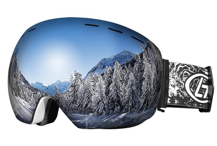 2018 جديد المهنية نظارات التزلج على الجليد الرجال النساء طبقات مزدوجة مكافحة الضباب نظارات التزلج الثلوج قناع تزلج نظارات التزلج googles c18110301