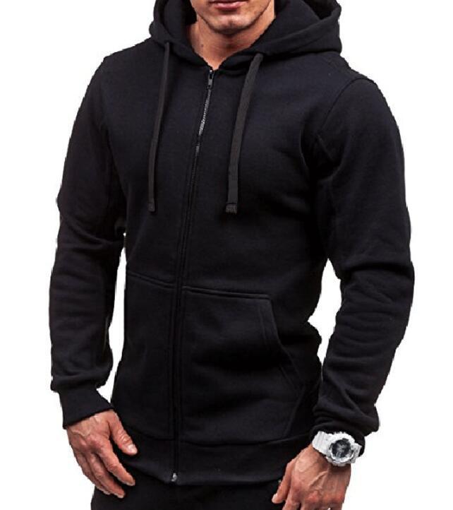 Chaquetas para hombre Color sólido CARDIGAN CARDIGAN COMPLETE COMPORTORIA COMPLETA Sudadera con capucha negra Suéter de manga larga Ropa de chaqueta