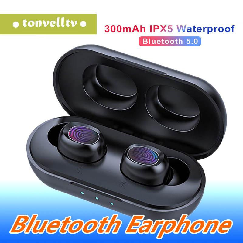 1 PCS B5 drahtloser Kopfhörer 5.0 Blutooth Kopfhörer-Sport-Kopfhörer-versteckter Mini unsichtbarer Wasserdicht Stereo Eearphone Earbuds für Telefon