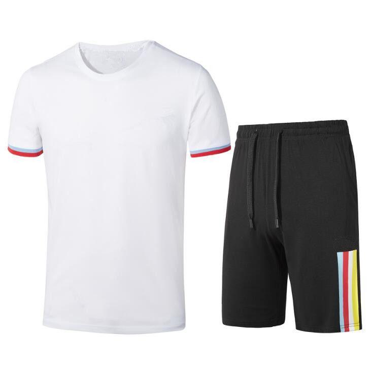 2020 New FP584155 Männer Fitness Anzug Sommer-Shirt + Shorts Outwear Sporting Männer Sets T Shirts Hosen Kleidung Anzug Lässige T-Shirts