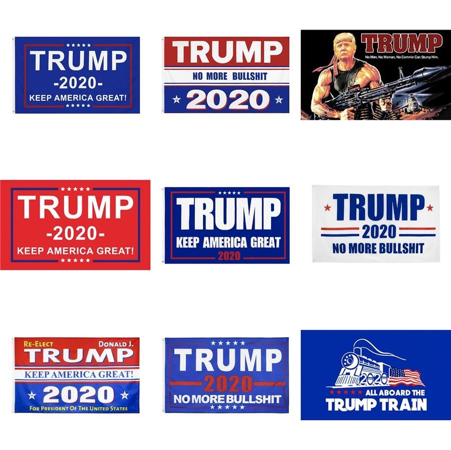 Trump Biden 2020 El Bayrağı 90 * 150cm Mektupları Baskı Bayraklar Amerika Amerikan Yıldız Stripes Bayraklar Başkanı Genel Seçim Banner Sn1472 # 873