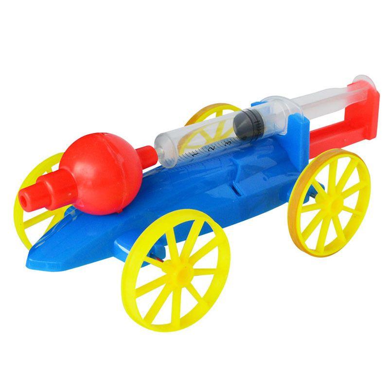 Diy تجميع لعبة كيت الكهربائية الهواء بالطاقة سباق السيارات العلوم كيد تعلم العلوم الفيزيائية للتربية لعبة الهوائية