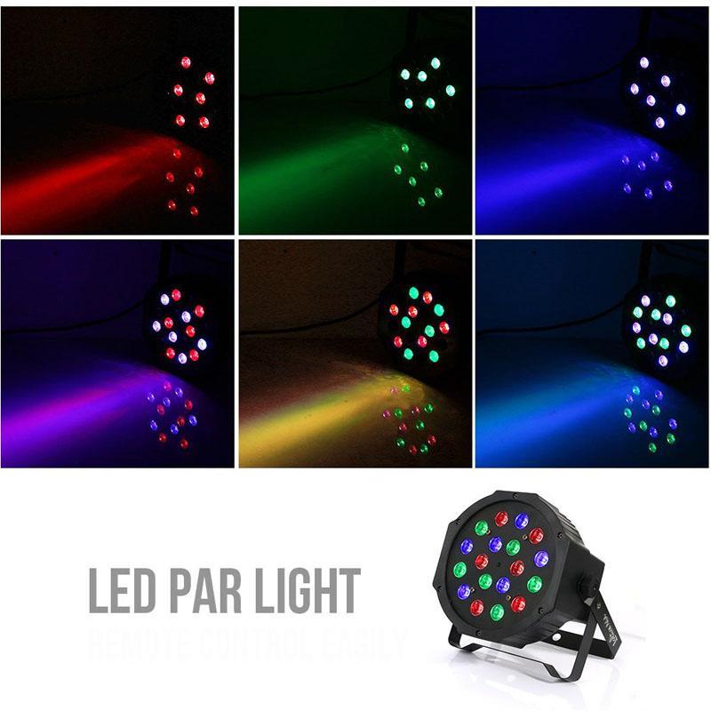 Stage Lights 18 LEDs Par Lights DJ Disco lamp Sound Activated Stage Lighting Wedding KTV Show Club Bar lamp