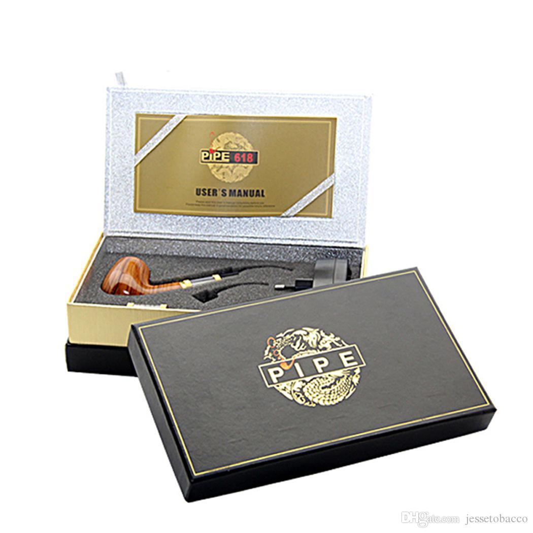 2020 파이프 (618) 전자 담배 전자 담배 단일 키트 E 파이프 18350 배터리 나무 선물 상자 뜨거운 판매로 618 2.5ml를 분무기