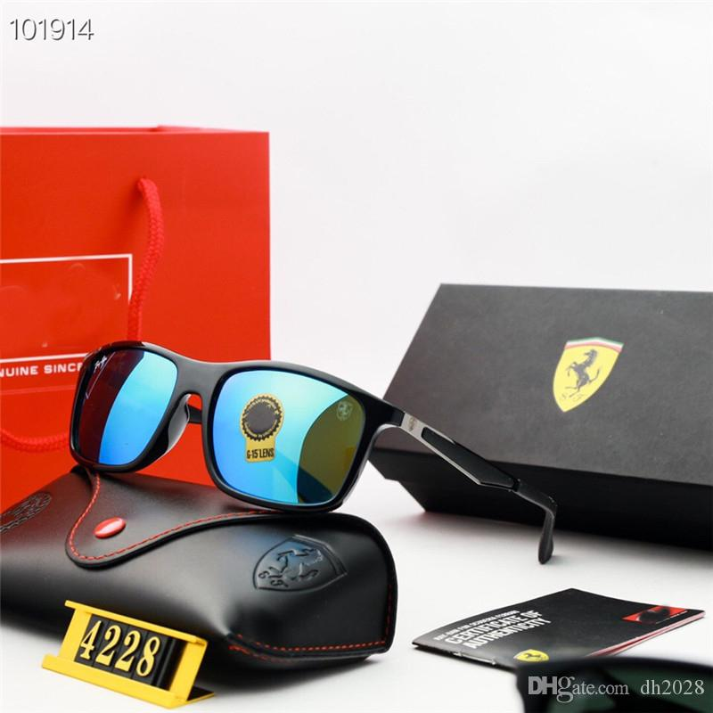 Ferrari 4228 Sonnenbrille mit Kasten polarisierte Hochwertige Sonnenbrillen Outdoor Fahren Reiten Anti-Strahlung UV400 Sonnenbrille Hot Verkauf