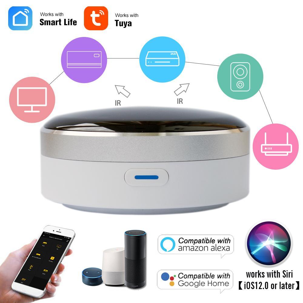 2020 جديد الذكية المنزل التحكم عن بعد العالمي الذكية تحكم عن بعد واي فاي + الأشعة تحت الحمراء التبديل الأتمتة المنزلية تكييف الهواء التلفزيون مساعد جوجل اليكسا