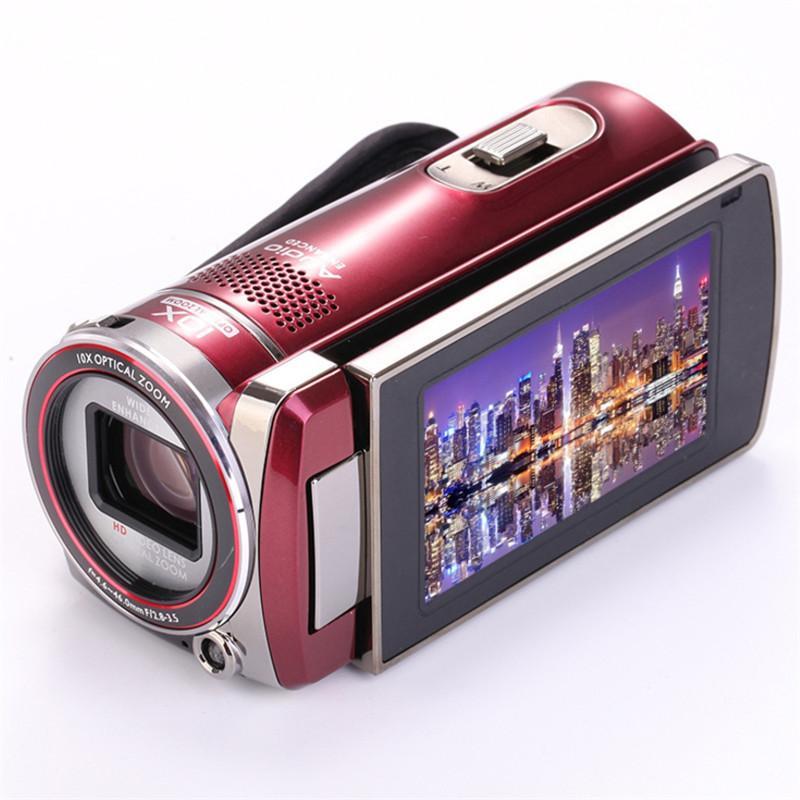 جديد HD 1600W بكسل كاميرا رقمية كاميرا شاشة 3.0 بوصة تعمل باللمس الأساسية 10X زووم بصري لايف الزفاف كاميرا رقمية السفر