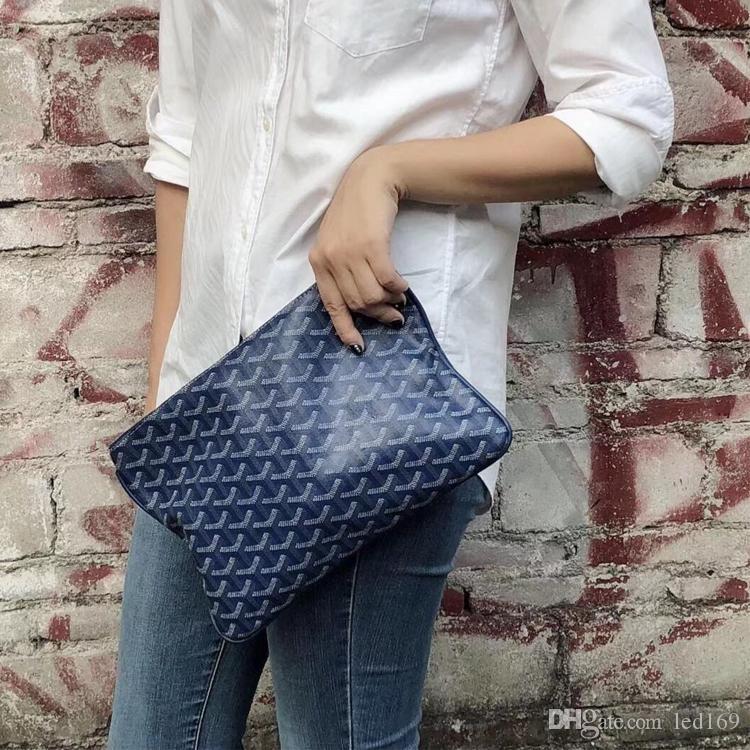 2020 mujeres de cuero de los hombres embrague bolsos de la bolsa de compras francés lona suave Fashon bolsas de 40 y 30cm de los hombres del partido bolsas