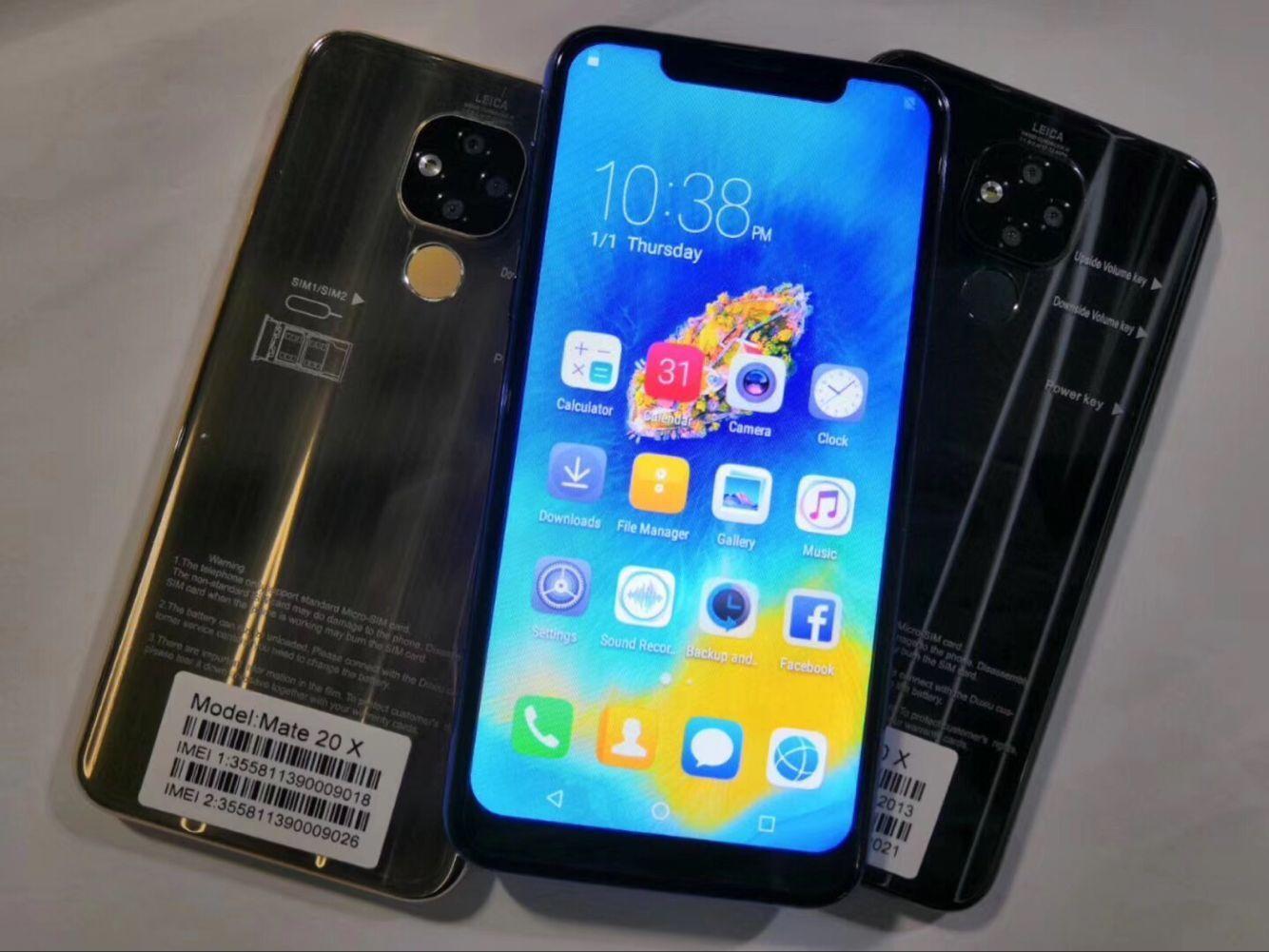 2019 billige Klon Goophone HWei Mate 20X zeigen 4G Smart Goophone mater Handy Vollbild 4GB RAM 64GB ROM Fingerprint Cell Smart Phone