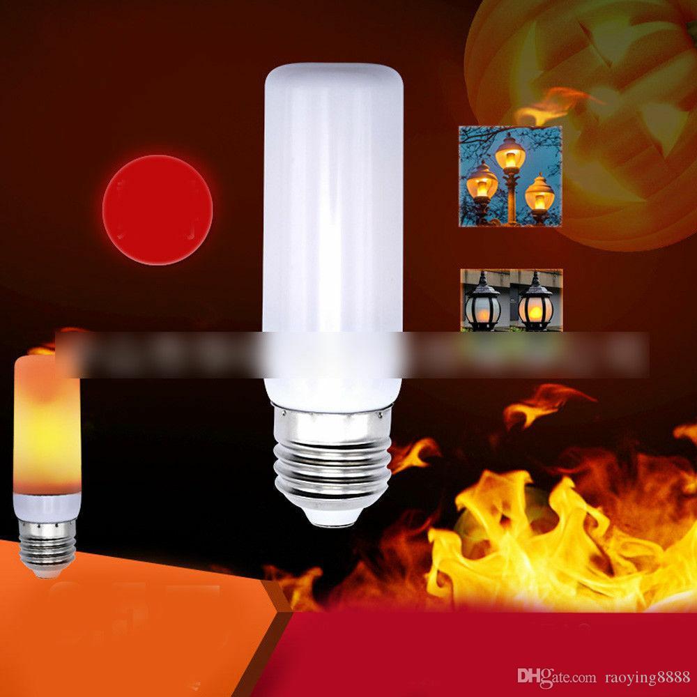 E27 Светодиодные Мерцание пламени Лампочка моделируемой Ожог Эффект партии Огонь Декор Великобритании
