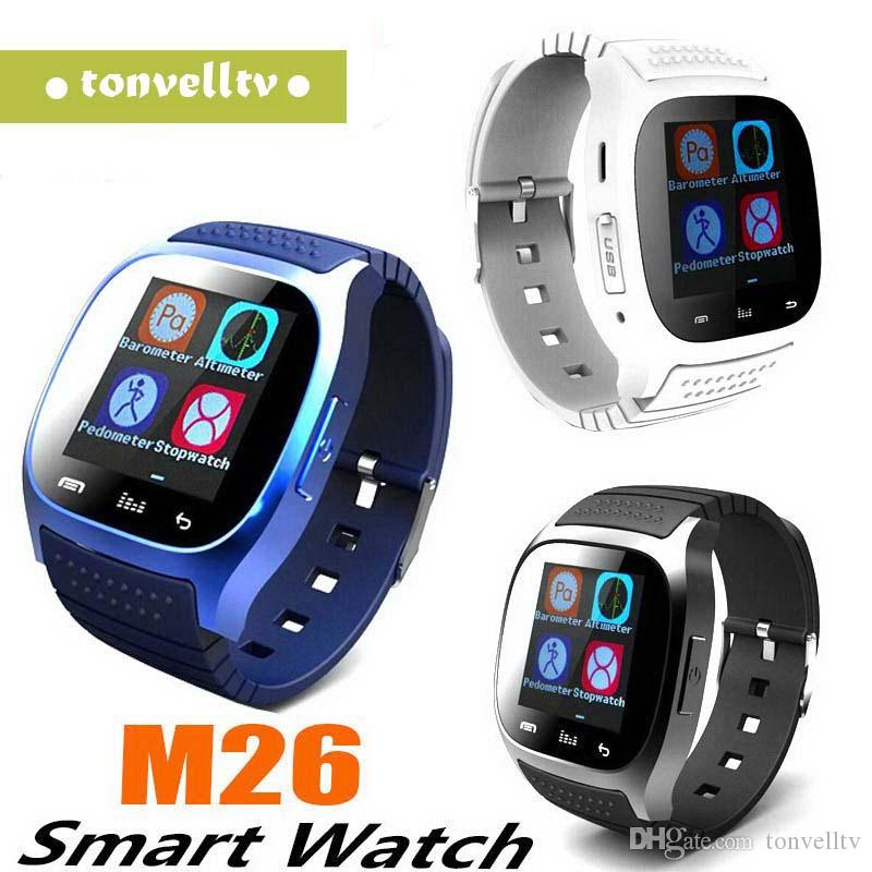 Cheap M26 Bluetooth Smart Watches M26 for iPhone 6 6S Samsung S5 S4 Note 3 HTC Android Phone Smartwatch for Men Women Factory Price