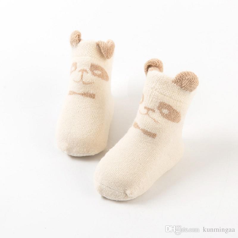 İlkbahar sonbahar kış Çocuk çorap moda kız erkek diz boyu çorap bebek çocuk Organik renkli pamuk bebek Çorap