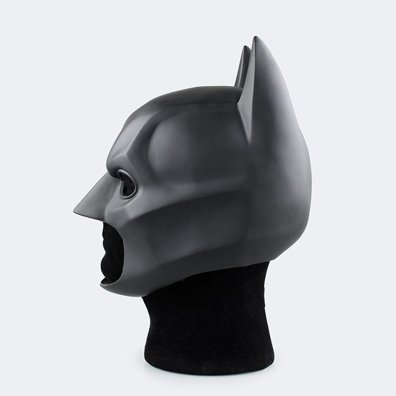 Movie The Dark Knight Batman Helmet PVC Flexible Mask Fancy Ball Cosplay Accessory Prop Mask Headwear for Child