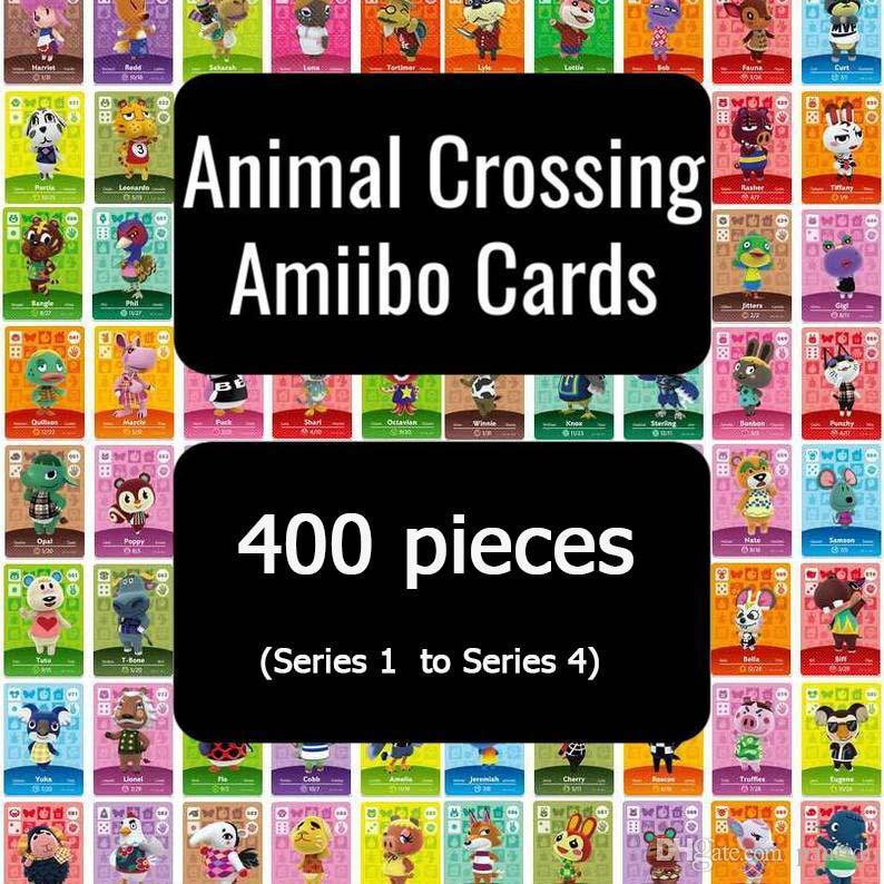 400 Tarjeta de Animal Crossing Card amiibo del sistema completo (Serie 1 de la Serie 4) envío rápido