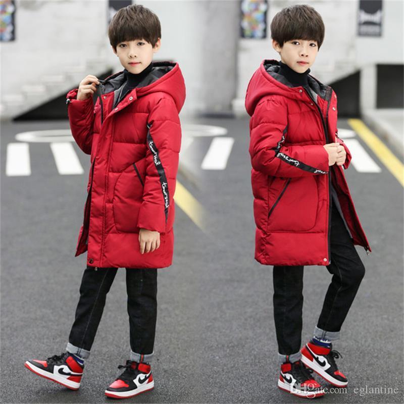 Kinder kalt Winter Plus Samt Jacken für Jungen Kleidung Snowsuit Kinder Parka Warm verdicken Mantel Teen outwear Kleidung