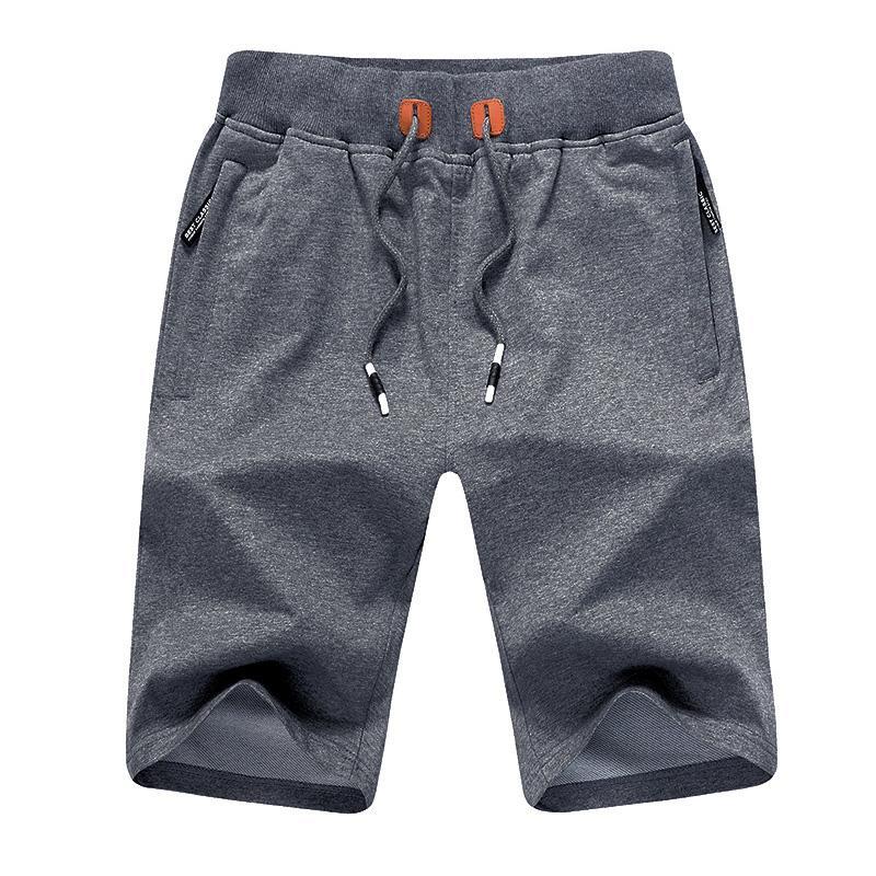 Los pantalones cortos de los hombres de moda playa del verano ocasional del estilo elástico de la cintura del lazo de múltiples colores masculinos 2020 Sweatpants más el tamaño