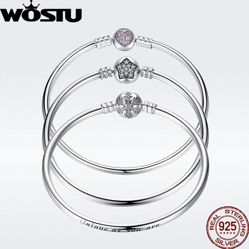 Auténtico 925 la pulsera original de plata del encanto de cadena de plata pulsera brazalete para las mujeres pulsera única de la joyería apta DIY CX200612 regalo