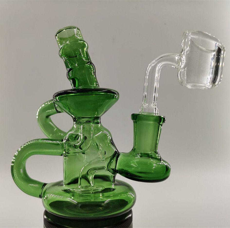 Pipe Mini Bong Acqua Oil Rigs Recycler Dab Rigs Heady Water Glass Bong Narghilè acqua con 14 millimetri Banger