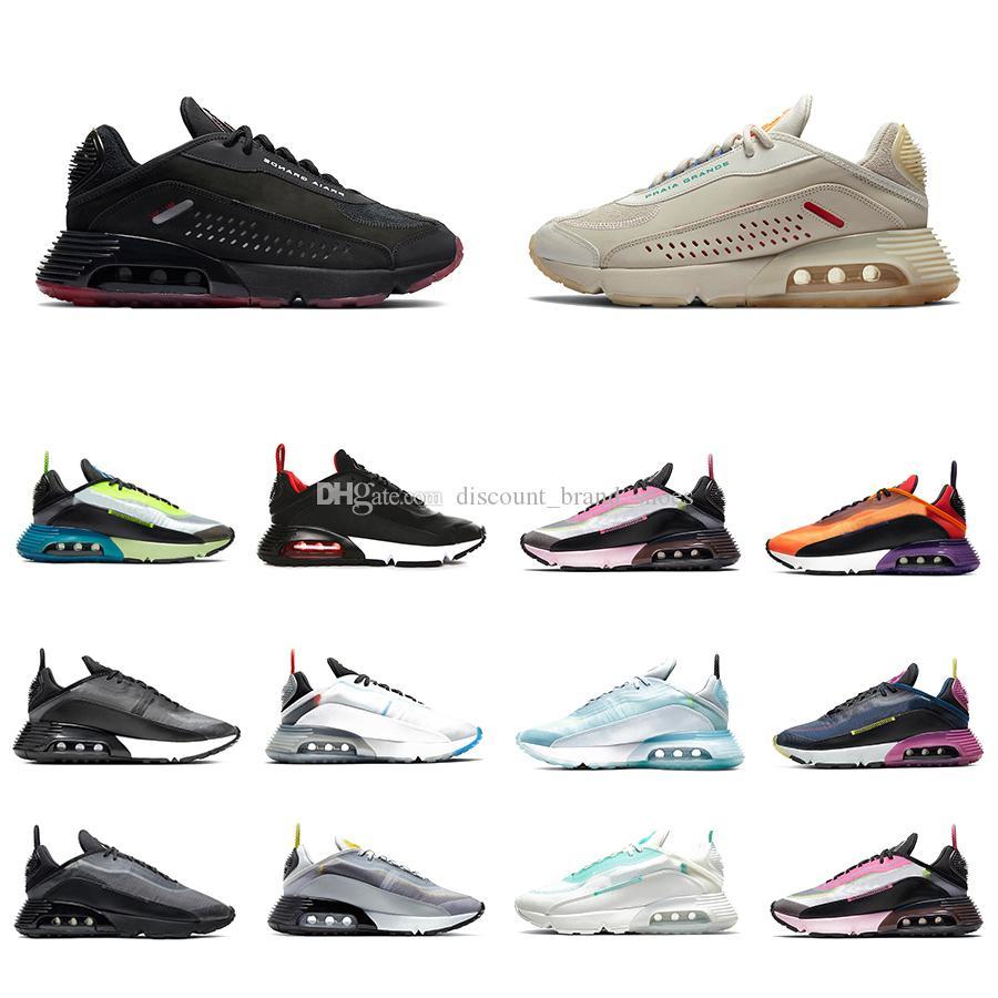 Praia Grande 2090 Mens Running shoes Aurora Green Magma Orange Navy Magenta Black Anthracite Wolf Grey 2090s men women sports sneakers