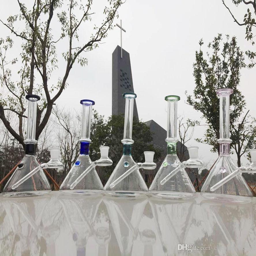 Стеклянная вода Трубы 21см Курение Вод труба Нефтяных вышки две функций двойной птичьей клетки круглой 14,4 мм стык с ресайклером стекла