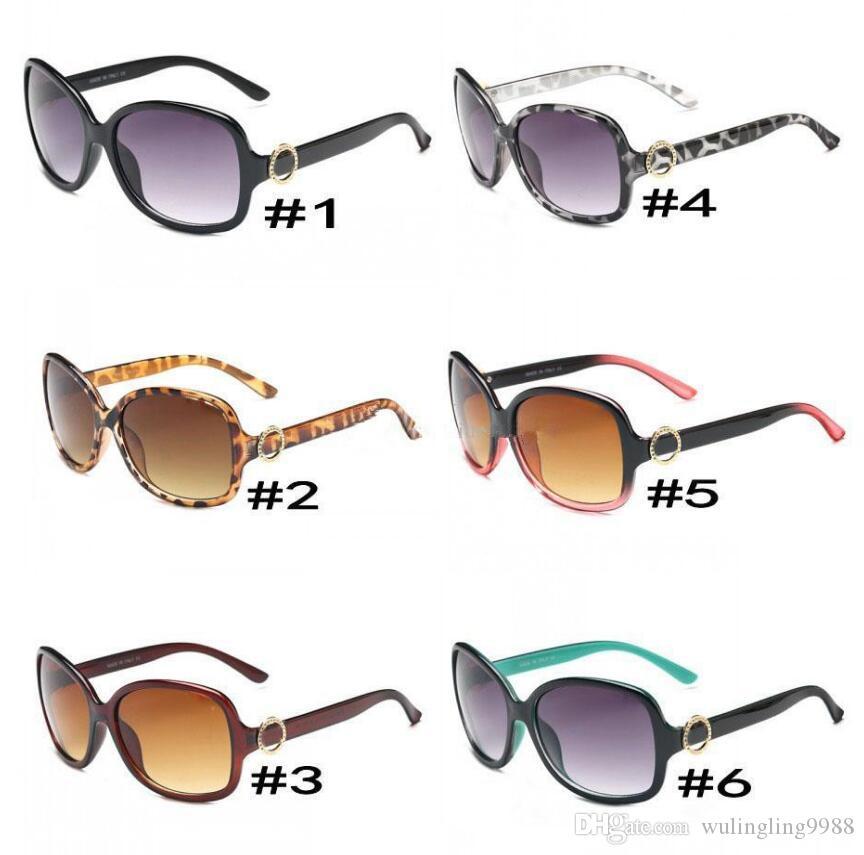 إمرأة جديد موضة النظارات الشمسية 8016 UV400 إطار كبير جولة نيس FACE نظارات 6 ألوان الجودة A +++ موك = 10 أزواج