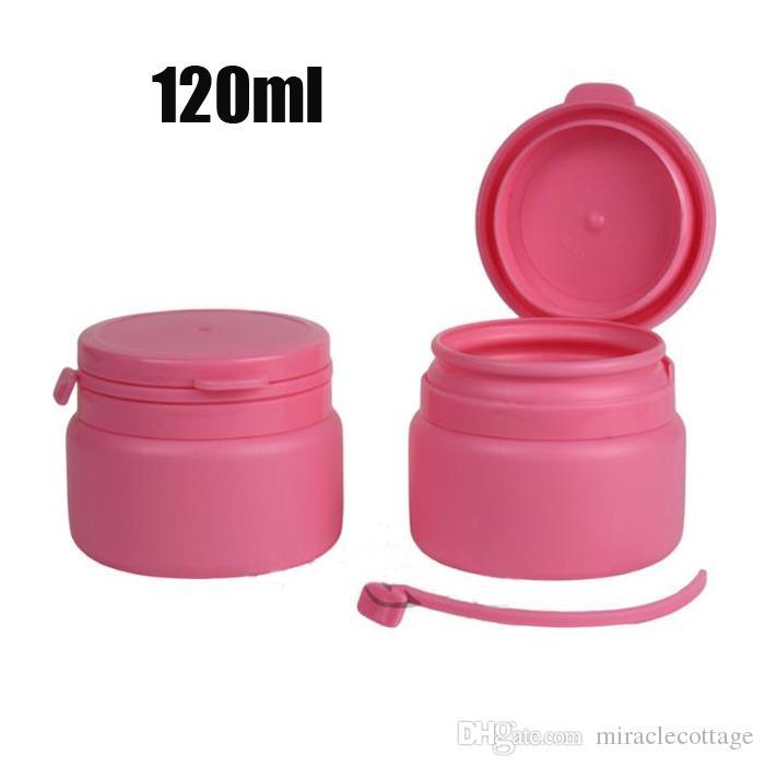 100 قطع 120 ملليلتر الوردي اللون pe التعبئة زجاجة الحلوى ، تمزيق أعلى زجاجة بلاستيكية فارغة ، جرة الرعاية الصحية الصغيرة ، تخزين مسحوق ، حاوية الحلوى