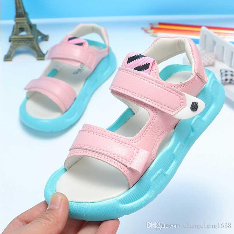 Kids Girls Jelly Sandals Summer Beach Infant Childrens Boys Holiday Flat Shoes