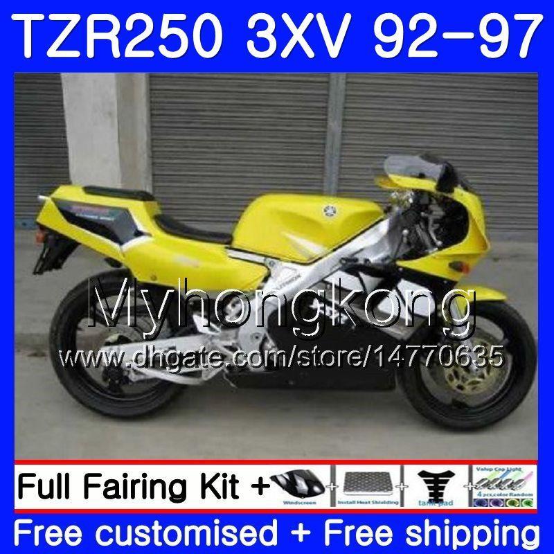 키트 YAMAHA 광택 황색 TZR 250 3XV YPVS TZR-250 92 93 94 95 96 97 245HM.16 TZR250RR RS TZR250 1992 1993 1994 1995 1996 1997 페어링