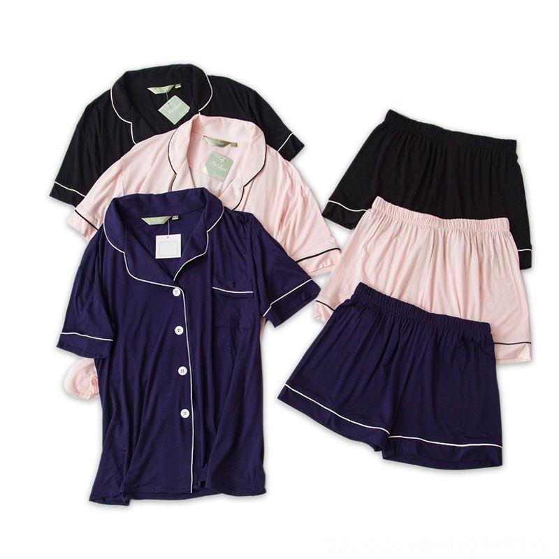 Casais sexy short modais pijamas sets mulheres e homens dormem de Mulheres Underwear interior pijamas verão coreana mangas curtas pijamas de
