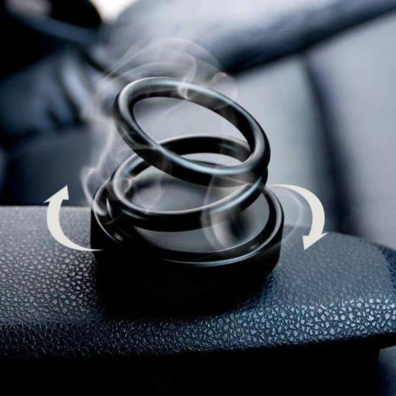 Автомобильный освежитель воздуха Double Loop Вращающийся Духи Автомобили Духи освежитель воздуха для автомобиля Accessorie Универсальный ароматизирующие