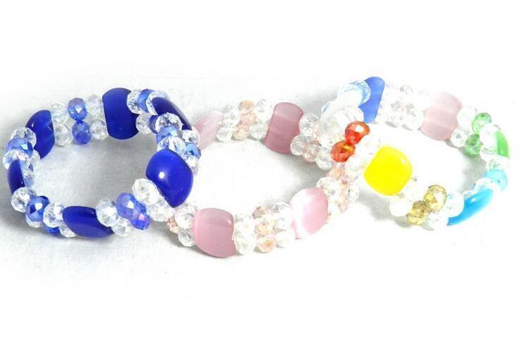 10pcs / lot Mischung färbt Opal facettierte ctystal Perlen Armbänder für Fertigkeit-Schmucksachen Gfit freien Verschiffen CR01