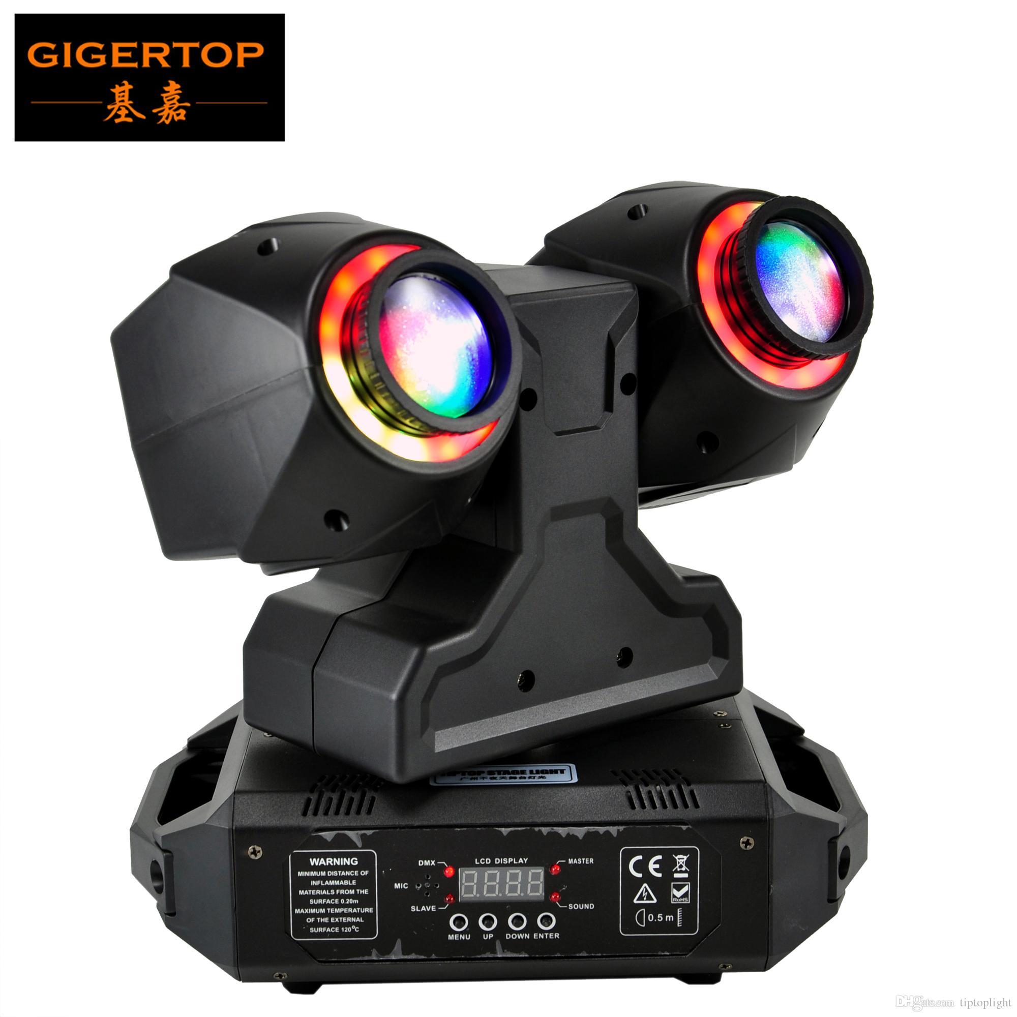 TIPTOP ضوء المرحلة 2 × 30W أدى نقل رئيس ضوء الشعاع مع هالة اللون الدائري تأثير RGB 3IN1 13CH / 21CH DMX 512 مراقبة