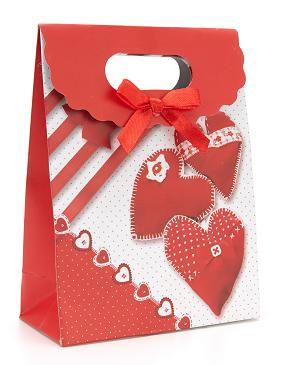 Valentine's Day without handle bow small fresh cute envelope paper gift bag spot four styles 15 * 8 * 21cm