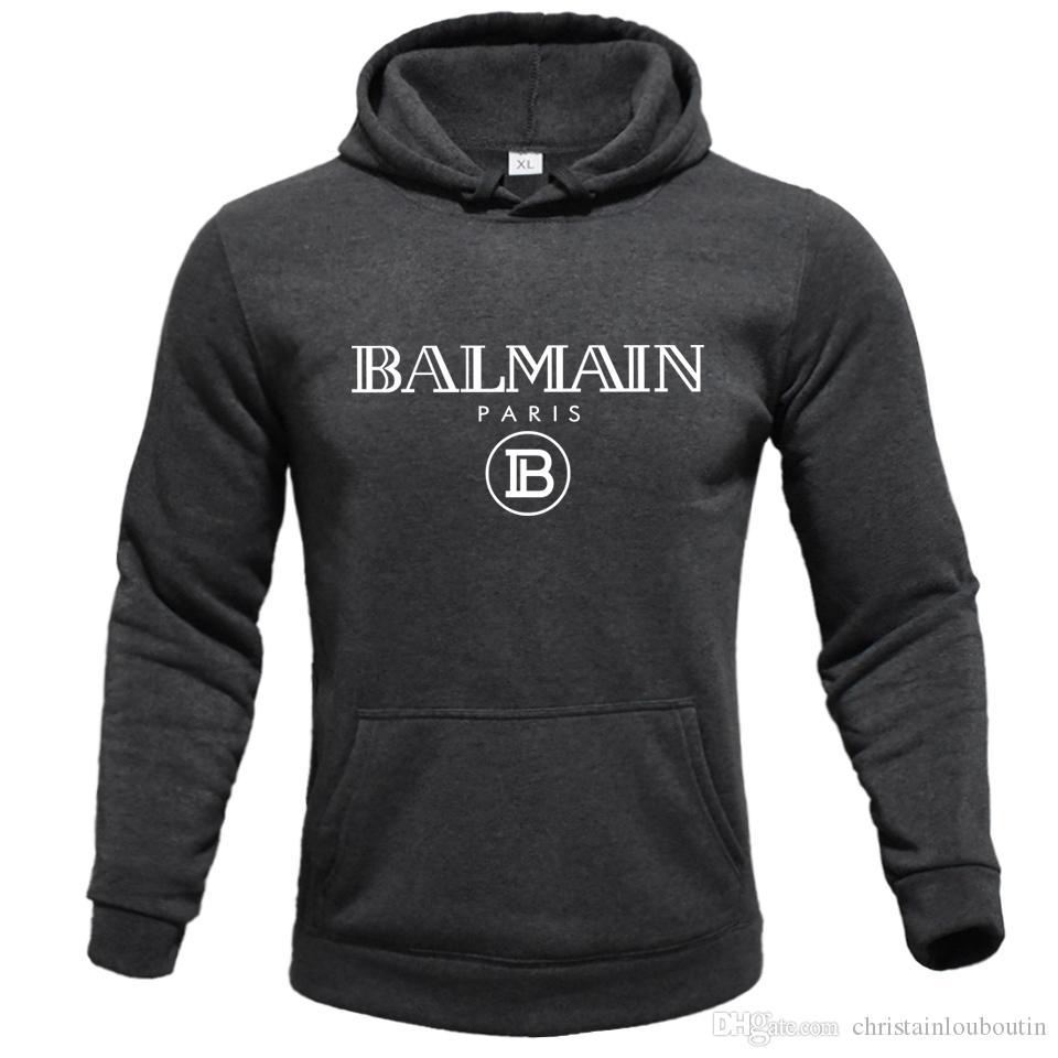 Balmain Homme Vêtements Homme capuche Sweat Homme Femmes Designer Hoodies High Street Supremo Imprimer Sweats à capuche Sweatshirts d'hiver