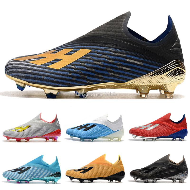 Mens Copa X19 + 19,1 FG caliente Slip-en los zapatos de Champagne rojo solar Fútbol de niños calza botas Scarpe juego interior grapas del fútbol