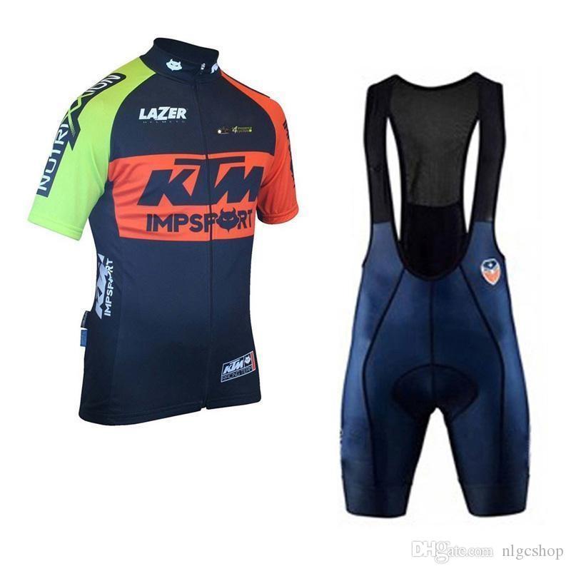 2019 KTM Team racing Bike Clothing Breathable Ropa ciclismo hombre Short Sleeve Shirt bicycle bib shorts Set Sportswear