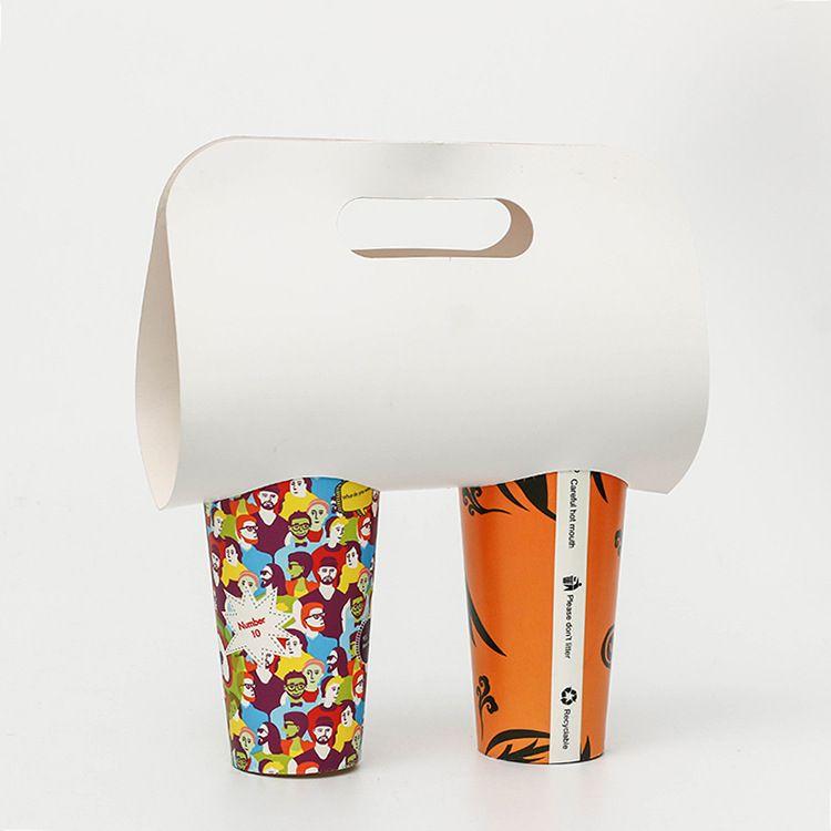 Ücretsiz Kargo Paleaway Taşınabilir Kağıt Bardak Tutucu, Süt Çay Tutucu, Tek Kullanımlık Kağıt Bardak Seti, Kahve Kağıt Bardak Tutucu, Çay Paketleme Çantası