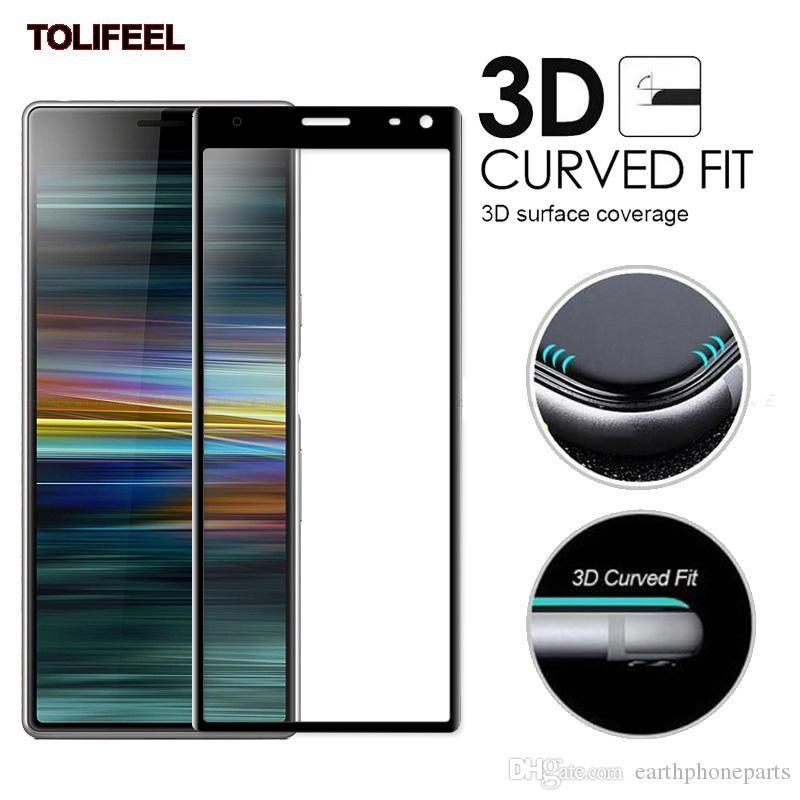 3D Curvy Full Cover Tempered Glass For Sony Xperia 10 XA2 Plus 1 XZ4 XZ2 XA3 Ultra Screen Protector 9H Protective Film