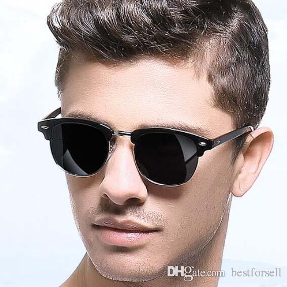 Fashion Classic Square Sunglasses Metal Club Designer Summer Eyewear Sun Glasses Men Women Brand Sunglasses o19 with case