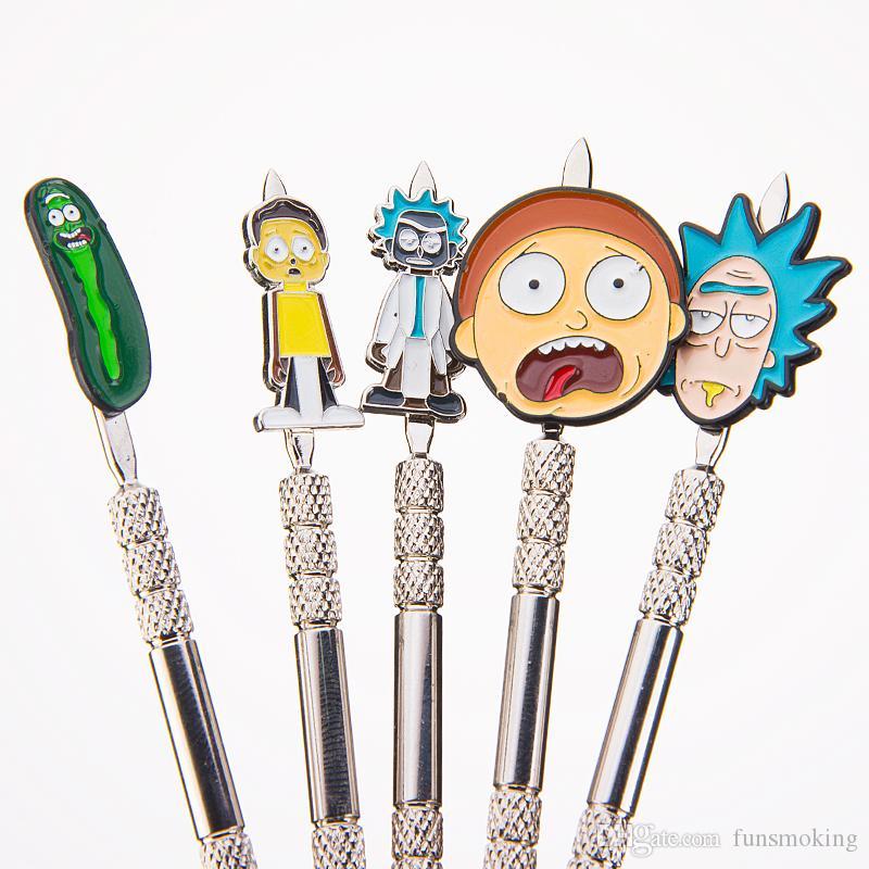 Metall Dabber Cartoon Dabbers Gurkendabbers Zinklegierung Dabber Smoking Tool für Banger Rauchzubehör für Glasbogen 362