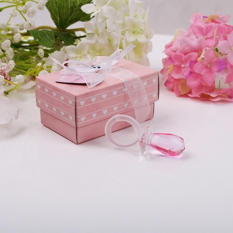 Chuveiro do partido moda Gift Artificial cristal Chupeta Pingente encanto Baby Girl Boy Decoração Batizado favor do casamento