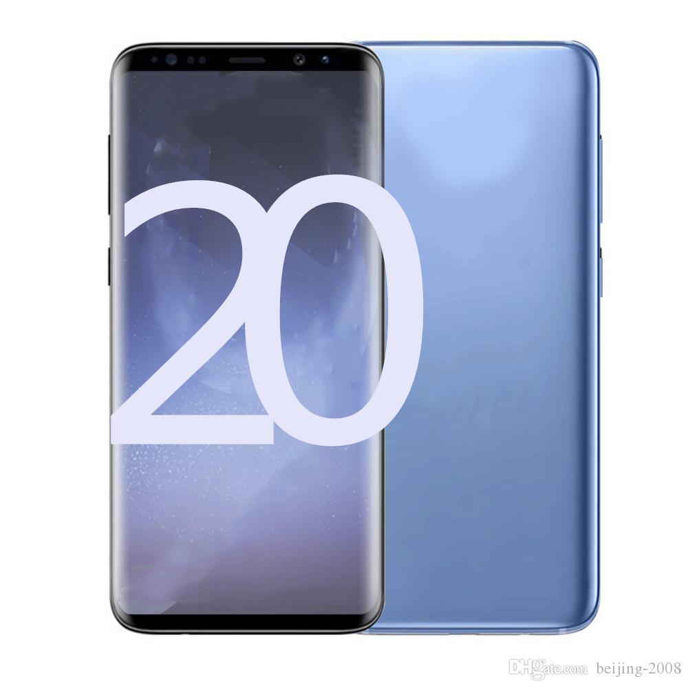Lo nuevo núcleo GooPhone 20plus 10plus MTK6580 quad 1 gramo 8G ROM completo de la pantalla 6.2 pulgadas del teléfono celular 4G LTE Mostrar android7.0 desbloqueado teléfono