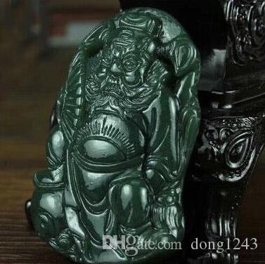 Hetian naturale QINGYU XinJiang colgante QingYu Zhong Kui colgante de Jade