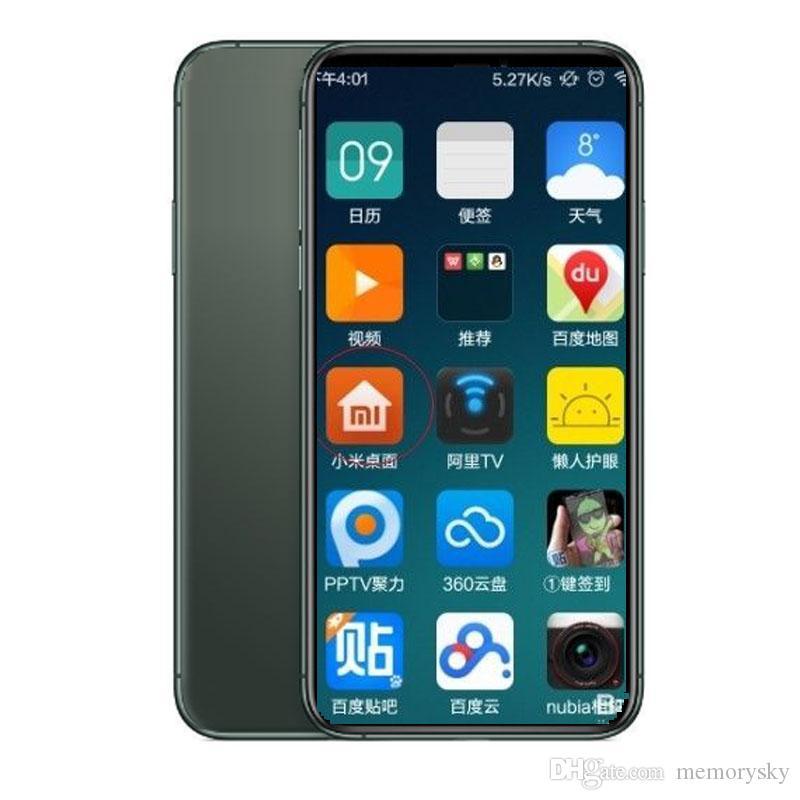 Goophone 5.8inch 10th Andriod phone 1GBRAM 8GBROM MTK6580 QuadCore 8MP 3G WCDMA Face ID Sealed Box Fake 4G displayed 2017 version phone