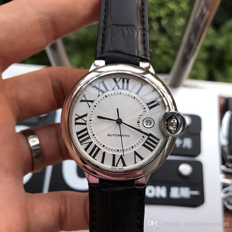 2020 Новая мода Роскошная Mens 42мм Sapphire Циферблат Механические автоматические часы Марка Релох Montres де режима Женская 36мм Наручные часы
