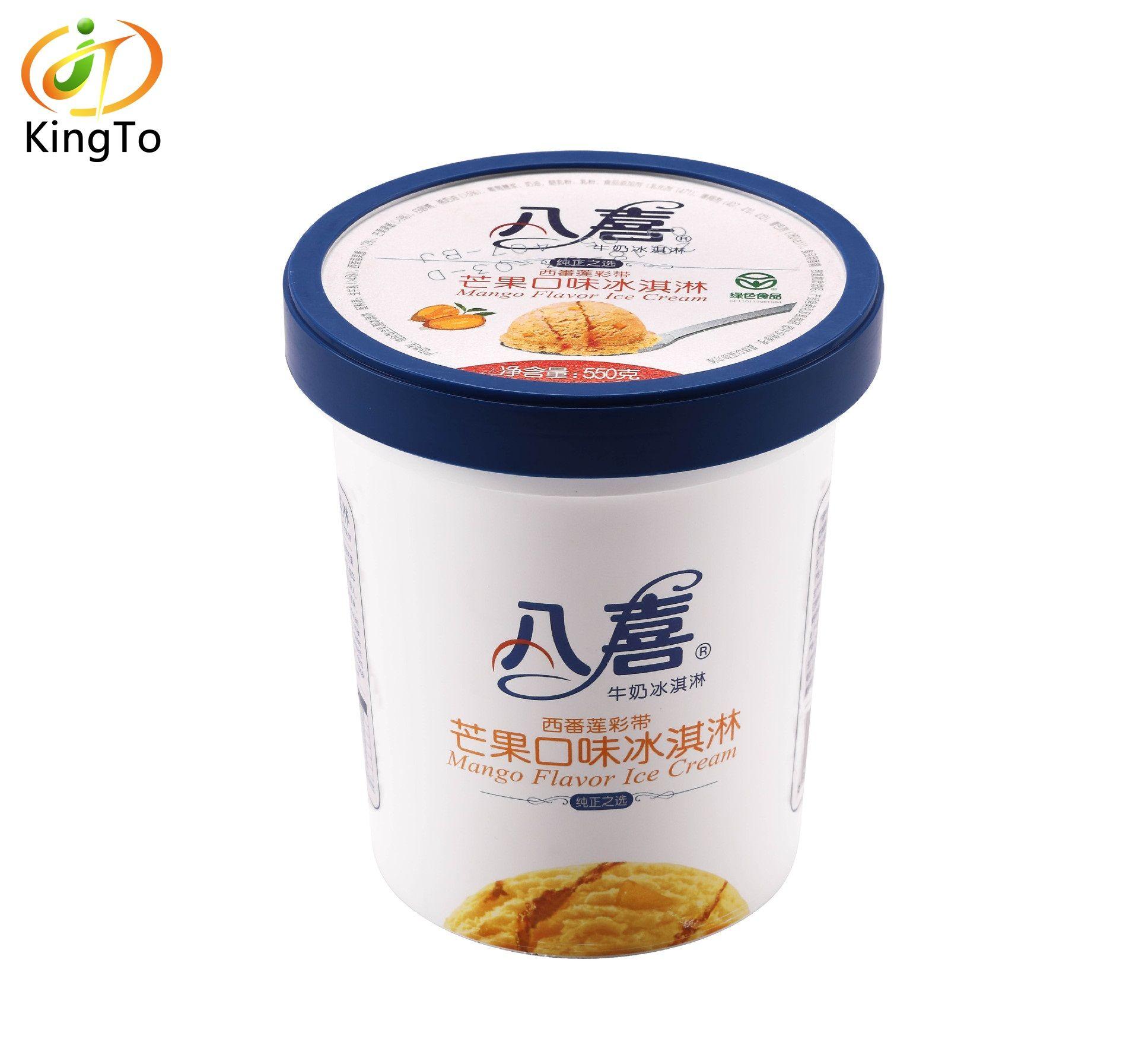 Yaygın dondurma fincan kalıp etiket olarak kullanılan