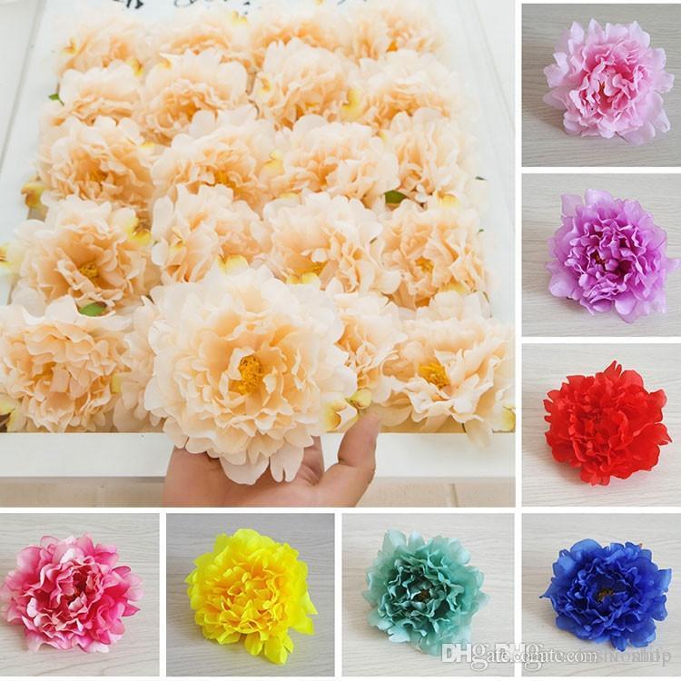DIY 15cm Künstliche Blumen Silk Pfingstrose-Blumen-Köpfe Hochzeit Dekoration Supplies Simulation gefälschte Blüte Hauptdekorationen